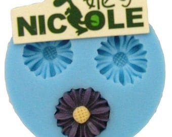 fondant silicone mold 3d silicone molds blumen mold polymer clay resin craft jewelry F0039