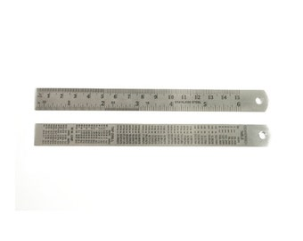 Stainless Steel Flexible Ruler for Jewelry Making - 35-510