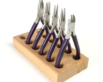Set of 5 Pliers With Organizer - Mini Purple for Jewelry Making - KIT-4600