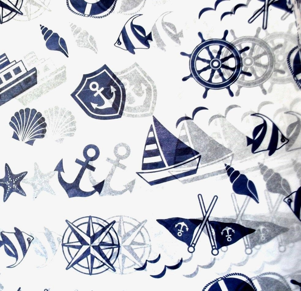 Nautical print Tissue Paper 375 / Gift Wrap Paper .... Boat