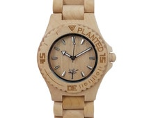 Mens Maple Wooden Watch by Planted