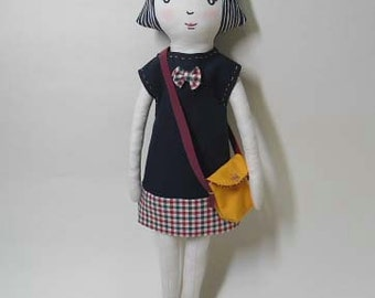 cloth doll,fabric doll,playing with dolls, Can cause a change of clothes Girl Doll, by joohongbit