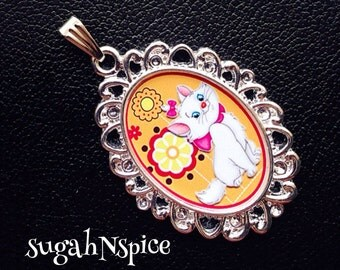 Disney's Aristocats Marie Necklace Pendant Aristocats Necklace Aristocats Jewelry Marie Necklace