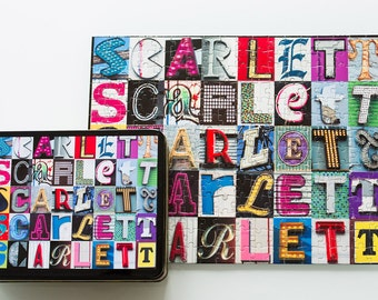 Personalized Name Puzzle in photos of alphabet sign letters; Jigsaw puzzles for kids; Custom puzzles; Picture puzzles; Photo puzzle; Jig Saw