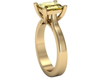 14k Yellow Gold Yellow Sapphire Ring,Solitaire Ring, Custom Gold Ring, Wedding Ring, Sapphire Ring, Anniversory
