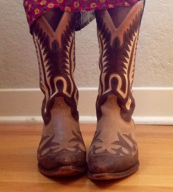 Cowboy Boot Makers ~ Items similar to vintage cowboy boots custom made by