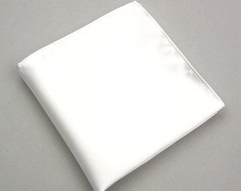 White Pocket Squares.Mens Pocket Square.Wedding Pocket Squares