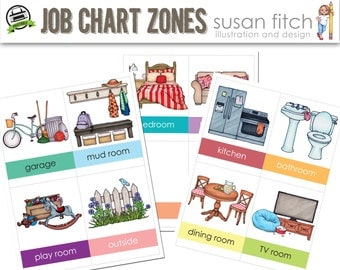 Chore Chart Cards - Zones
