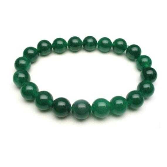 Jade Bracelet Beads: Oil Iron Green Grade A Natural Color Jade By AnnaAndJade