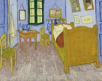The Artist's Bedroom by Van Gogh, Giclee Canvas Print