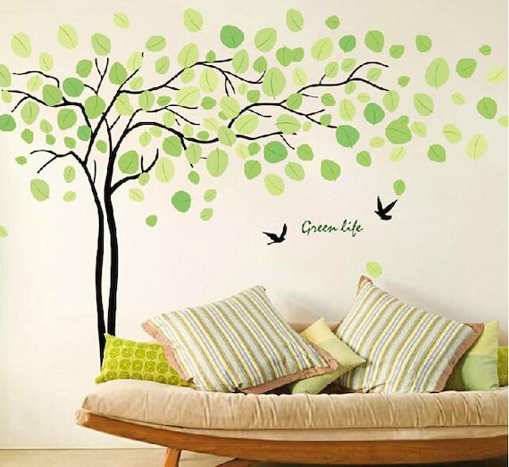 Wall Art Stickers Green : Tree wall sticker art baby nursery decals by