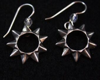 Star Bah'jah -  Sterling Silver Dangle Earrings