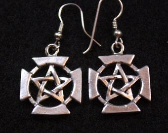Celtic Pentagram - Sterling Silver DangleEarrings