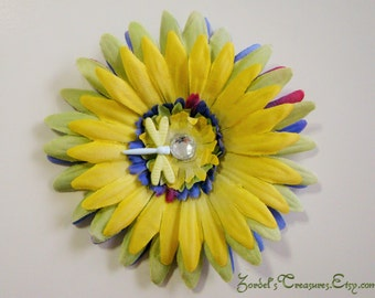 Flower Hair Clip - Dragonfly - One Size - #179