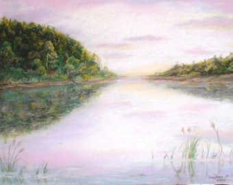 Soft Pastel Painting Landscape dry pastels Original Pastel Painting by Davydova Natalia