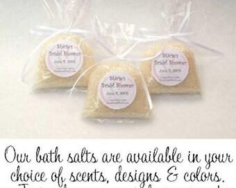Personalized ~ Bath Salt Favors in Sweet Little Bags (30)