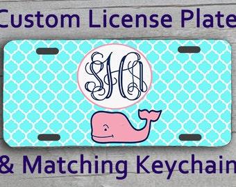 Custom Monogrammed Personalized License Plate Vineyard