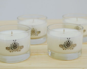 Set of 4 Votive Candles in Small Glass Votive - Free Shipping in Canada on this set
