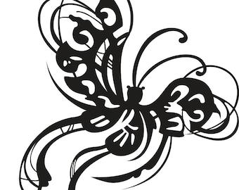 Fancy butterfly vinyl decal/sticker