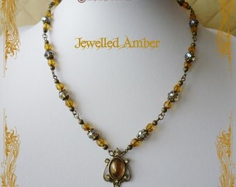 Jewelled Amber Necklace