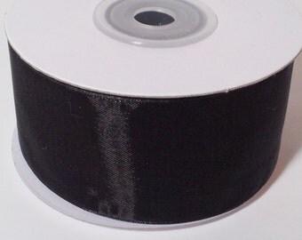 Sheer Organza Ribbon - Black - 25 Yards