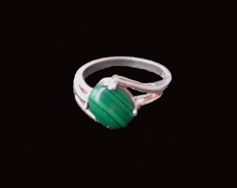 Malachite and Sterling Silver