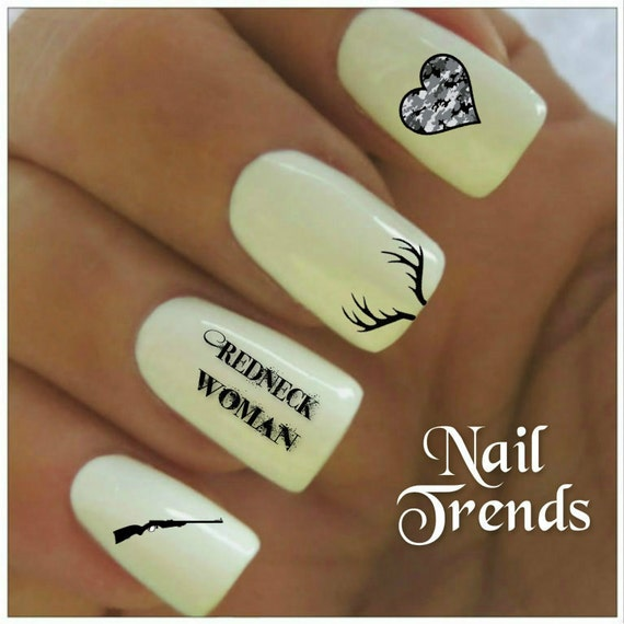 Country Nails: Country Nail Decal 20 Redneck Woman Vinyl Adhesive Decals