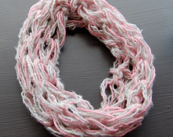 Children's Pretty Little Infinity Scarf - Pink & Gray