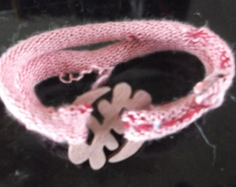Prayer Links  cloth bracelet/ Ghanian Charm/ non-profit....for a child in need