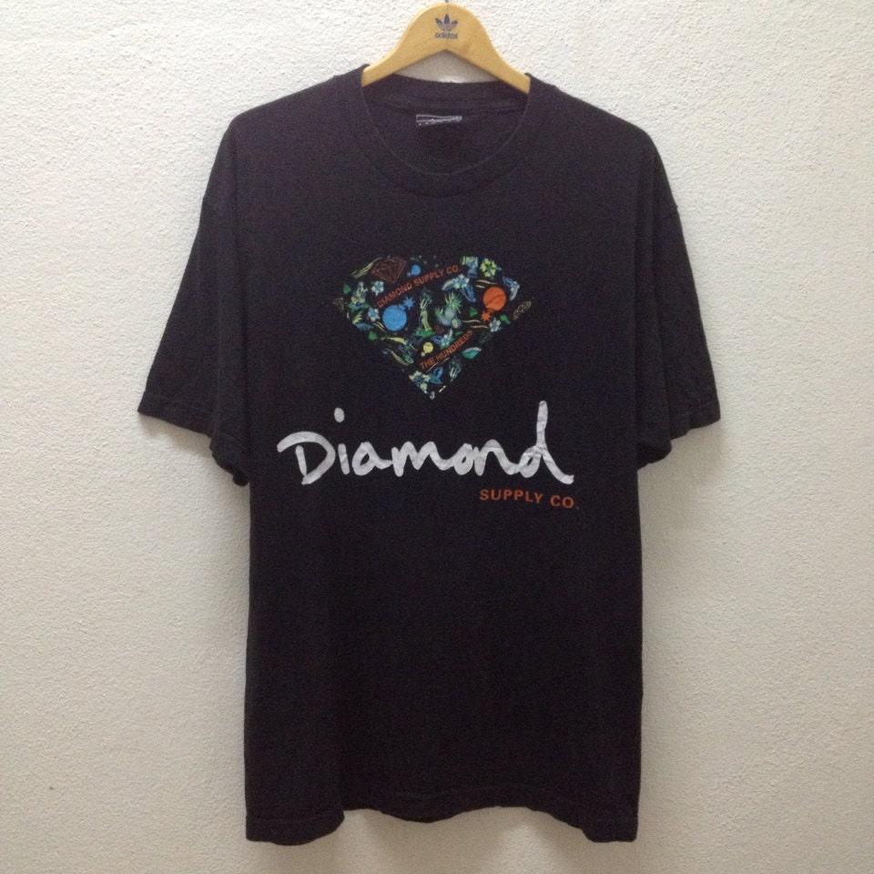 Rare the hundreds x diamond supply co t shirt sz l huf supreme for Wholesale diamond supply co shirts