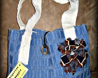 Upcycled Boho Market Bag #1