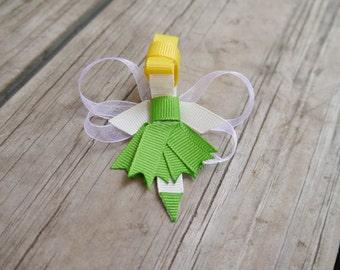 Tinkerbell Ribbon Sculpture Hair Clip