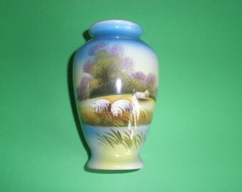1930's Noritake Hand Painted Vase
