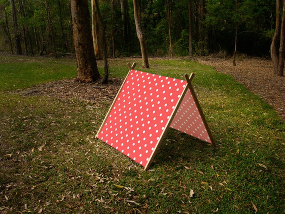 Like this item? & Collapsible A Frame Play Tent made from solid wood and Fabric
