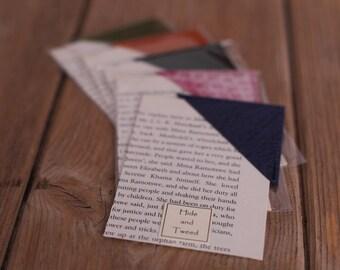 Leather Corner Bookmark