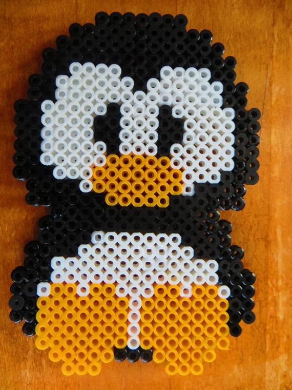 Cuddle Penguin  Perler Beads Magnet