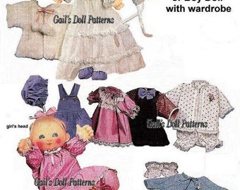 """17"""" Baby Doll with Wardrobe Pattern"""