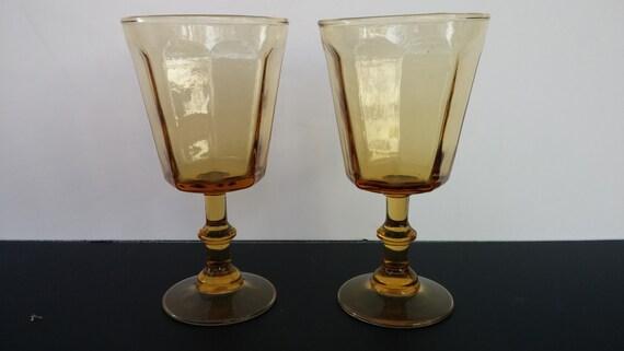 Lenox bryce antique yellow wine glasses pair - Lenox colored wine glasses ...