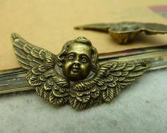 20pcs   23x50mm  Antique Bronze Lovely Angel Charm Pendant c3577-9