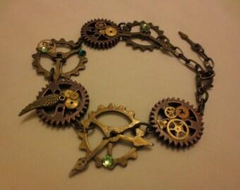 Clockwork Steampunk / Victorian Metal Bracelet