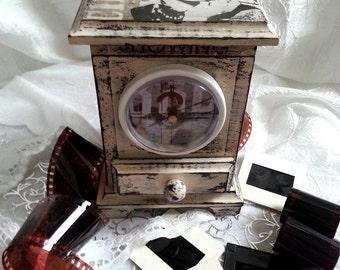 "Retro style jewelry box & clock ""Cinema"""