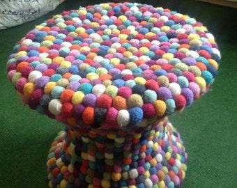WOOl Felt Ball Stool / Chair/Ottoman
