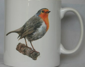 Robin - Original Painting - Personalised Mug / Cup