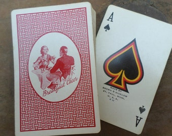 vintage deck of Playing Cards ANTIQUE BREAKFAST CHEER
