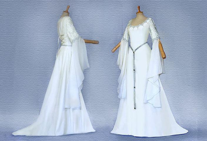 Elfenhaftes Dress Wedding Dress SANITA Ivory Silver Dress