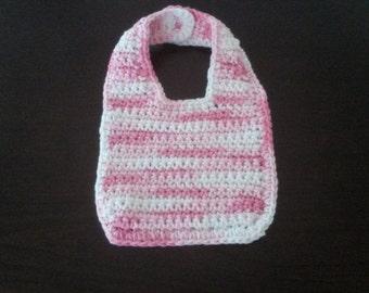 Crochet Baby Bib-Pink Melody