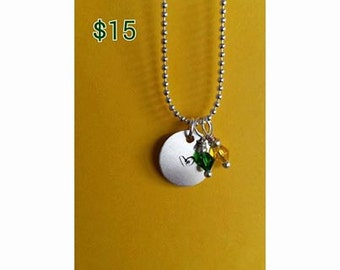 Custom made charm necklace.
