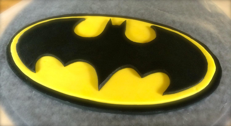 Batman Cake Topper Fondant