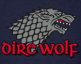 Grateful Dead Dire Wolf Thrones Lot Shirt   Men's