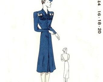 DuPont Pattern 814 Fashion Maven's Dress 1939 / Multi-Sized UNCUT